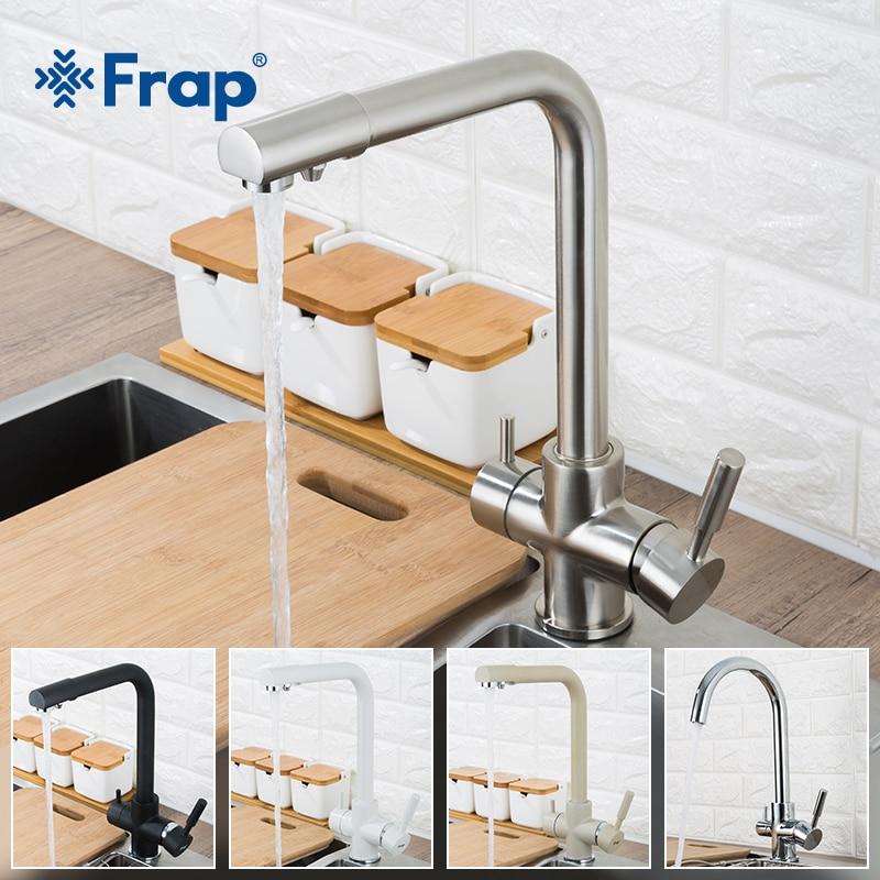 Frap جديد المطبخ الحنفيات الطابق الخيالة خلاط صنبور 360 دوران مع تنقية المياه ميزات خلاط الحنفية رافعة للمطبخ F4352
