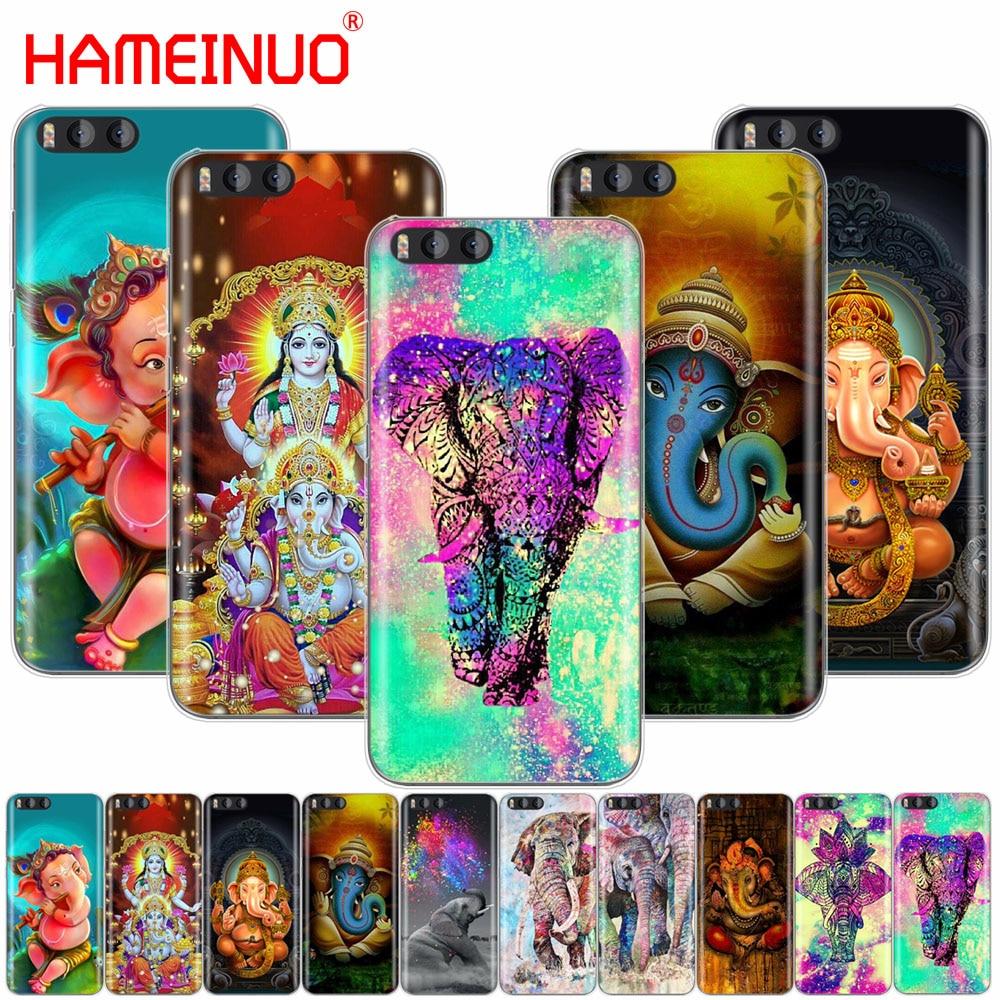 HAMEINUO O Deus Hindu Ganesha elephant Case Capa para Xiao mi mi A1 A2 3 4 5 5S 5C 5X6 6X 4C 4I NOTA MÁXIMA 2 mi x mais