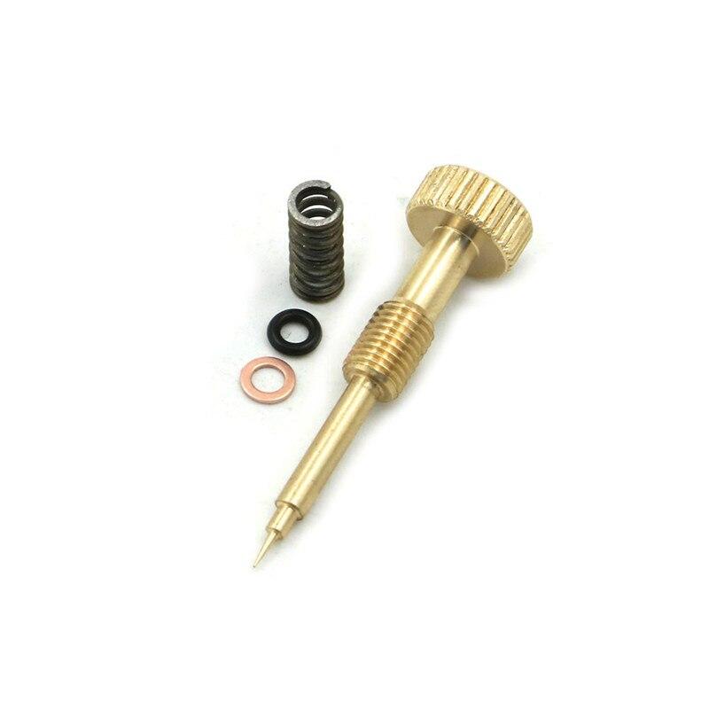 Zdjęcie CNC regulacja Carb odbudować bezczynny śruba mieszaniny, mosiądz bogactwo śruba wiosna dla KEIHIN CV gaźnik 1990 - 2006 Harley