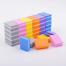 20 pcs/lot Mini lime à ongles Double face blocs éponge colorée vernis à ongles bandes tampons de ponçage outils de manucure de polissage des ongles
