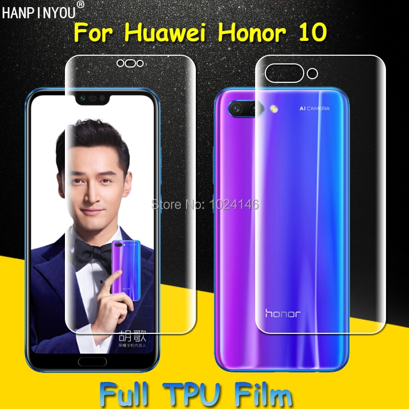 Front / Back Full Coverage Clear Soft TPU Film Screen Protector For Huawei Honor 10 Honor10 5.84