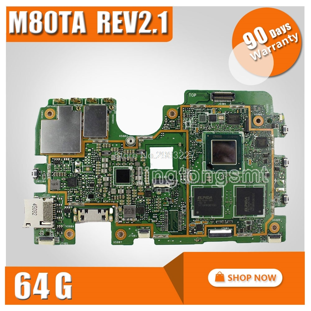 Original for ASUS M80TA Rev2.1 Tablet motherboard Logic board System Board VIVOTAB NOTE 8 Logic Board 32G/64G Memory Motherboard