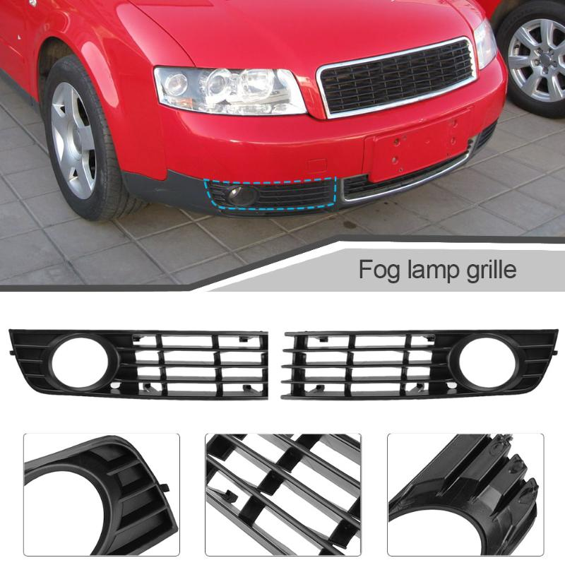 VODOOL левый и правый передний бампер Нижняя противотуманная фара решетка крышка автомобильный Стайлинг Автомобильная противотуманная решетка для Audi A4 B6 02-05 8E0807681