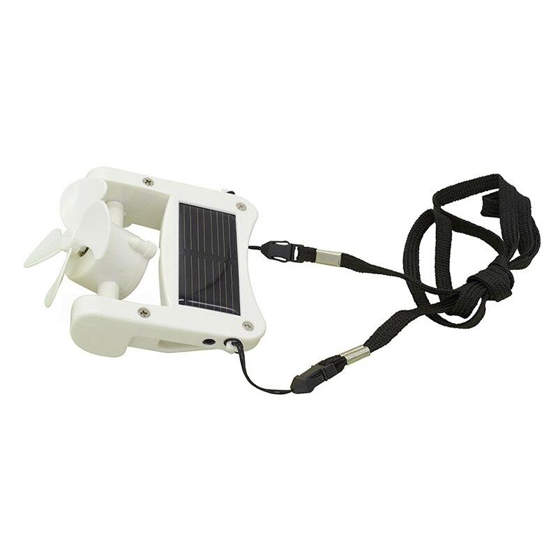 Solar USB Mini Fan Portable Cap Hat Clip-on Hanging Desktop Fans Cooler for Camping Travel FK88