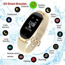 Bluetooth Waterproof S3 Smart Watch Fashion Women Ladies Heart Rate Monitor Fitness Tracker Smartwat