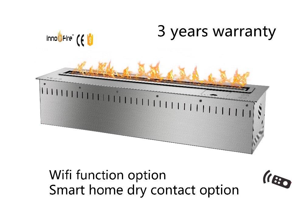 30 pulgadas de largo control remoto inteligente plata o negro ventless chimenea firebox insertos