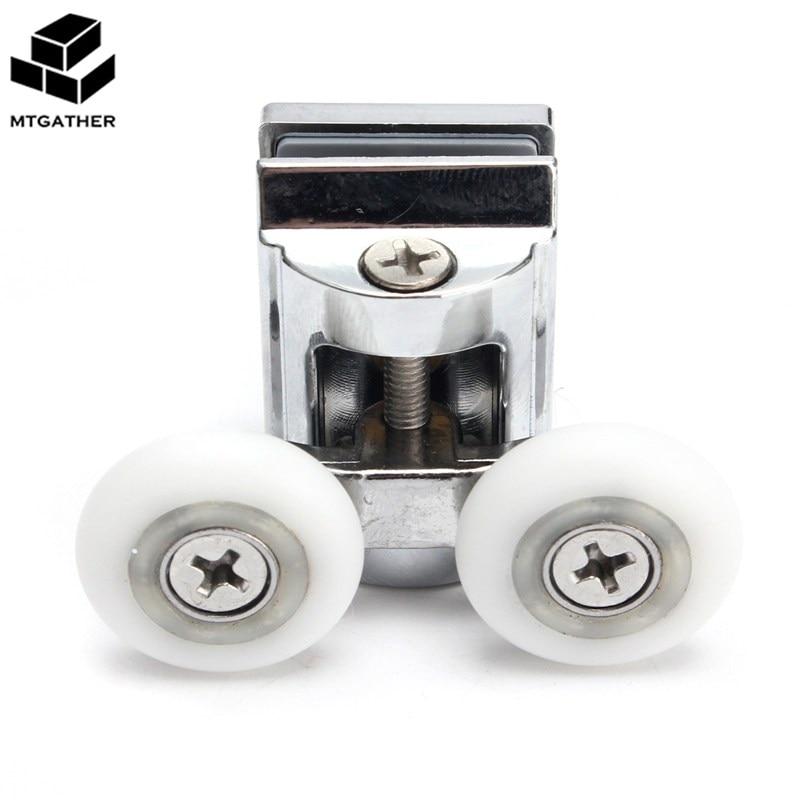 MTGATHER 2 шт./компл. 23 мм Двойной Топ из сплава цинка для душевой двери, ролики/бегуны/колеса, низ колеса 52x30x35 мм