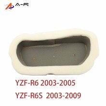 Воздухоочиститель с высоким потоком, фильтрующий элемент для Yamaha YZFR6, YZF-R6, YZF R6, 2003, 2004, 2005, YZFR6S, YZF-R6S, 2003-2009, 2008