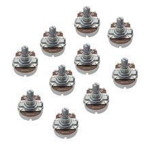 FLEOR 10 piezas B500K tamaño completo bajo ollas potenciómetros lineal de ollas corto dividido eje con bayoneta de punta