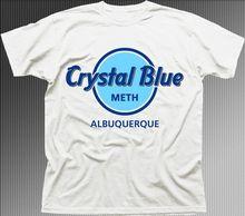 Coton décontracté marque Breaking Bad cristal bleu Meth Heisenberg Jesse blanc imprimé T-shirt col rond manches courtes
