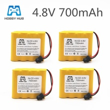 1/2/4/8x Rechargeable 4.8V 700mAh Ni-Cd AA Battery Pack For Remote Control Toys Electric Car SM-2P P