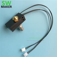 SWMAKER Wanhao Duplicator 6 3D printer spare parts D6 MK11 hotend kit +heater cartridge+ PT100 thermocouple set