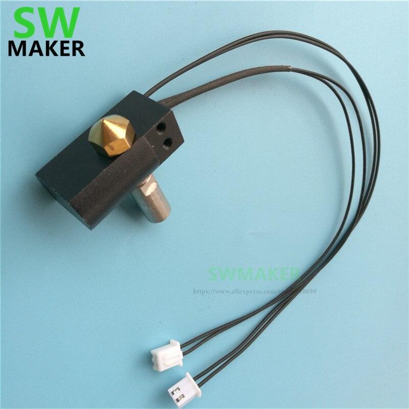 SWMAKER Wanhao Дубликатор 6 3D принтер Запасные части D6 MK11 hotend комплект + нагреватель картридж + PT100 набор термопар