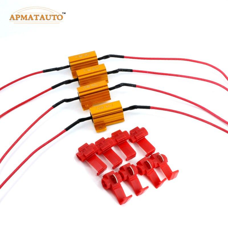 4 stück 25 Watt led-lampe Blinker Licht DRL Nebellampe-lastwiderstand Fix Fehler schnelles Blinken 1156 P21W PY21W BAU15S 1157 7440 7443 T20 3156 3157
