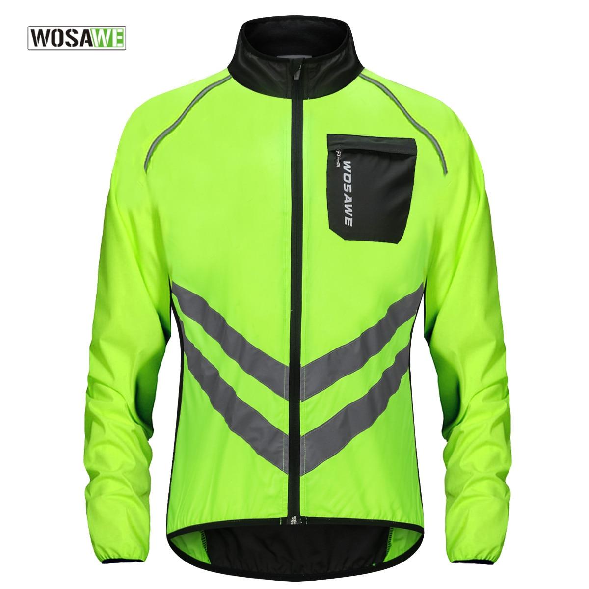 aliexpress.com - WOSAWE Cycling Rain Jacket High Visibility MultiFunction Jersey Road MTB Bike Bicycle Windproof Quick Dry Rain Coat Windbreaker
