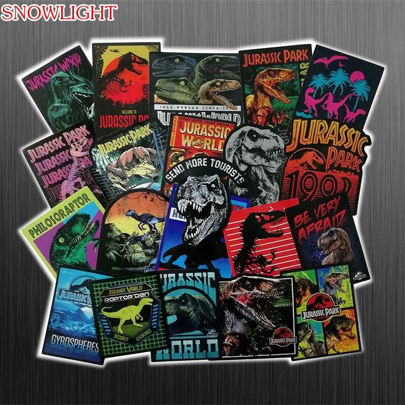 Pegatinas de Parque Jurásico de dibujos animados 75 Uds., juguetes para niños, pegatina de dinosaurio Animal, pegatina para portátil, Maleta de Skateboard