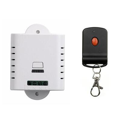Venta al por mayor 110V 120V 220V 1CH receptor de interruptor inalámbrico + TRANSMISOR de Control remoto para puerta de garaje lámpara/ventana/433 mhz persianas/315 m