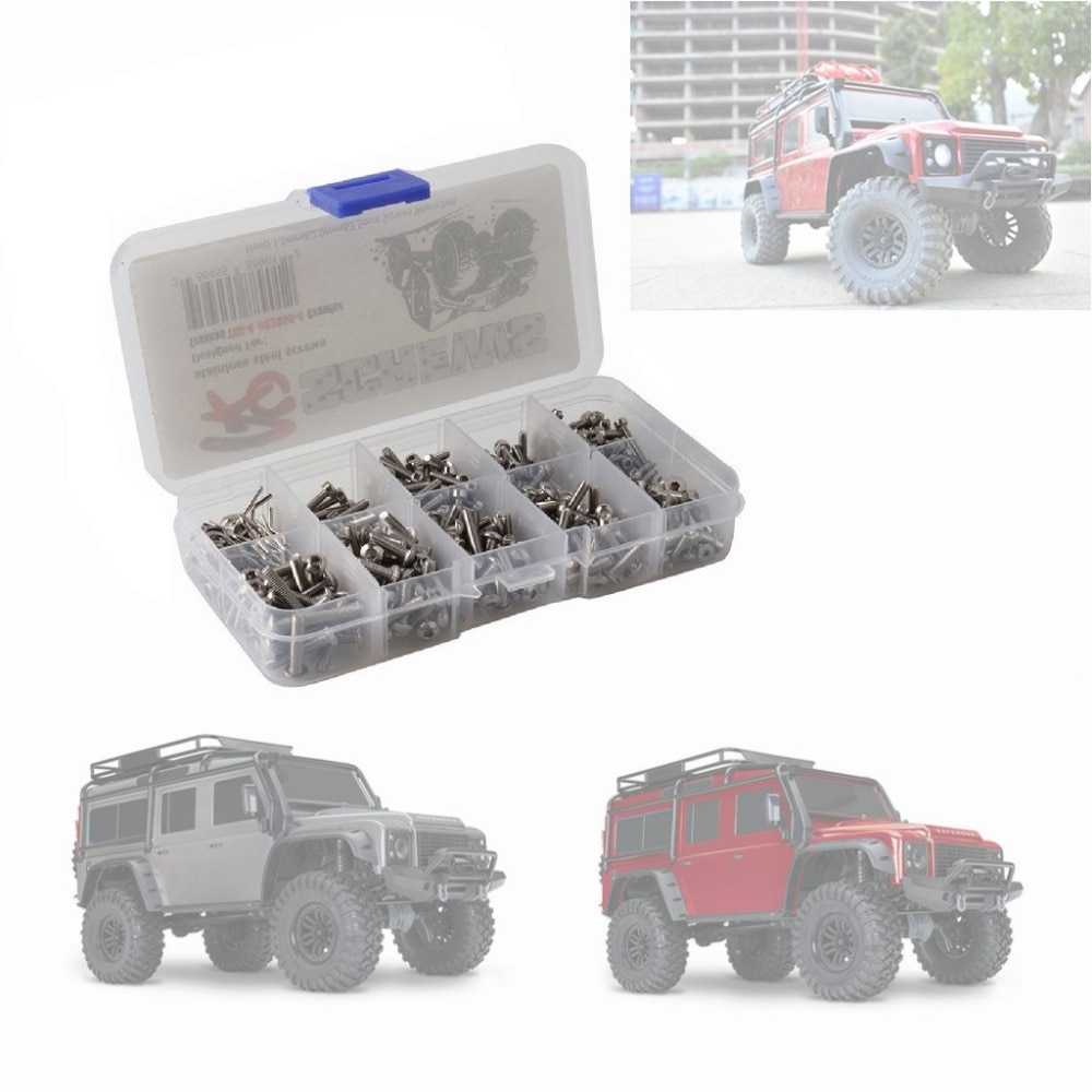 Model Car Screws Kit w/ Body Shell Clip Pin Hexagon Socket Head Cap Screw Full Set for Traxxas TRX-4 82056-4 1:10 RC Car