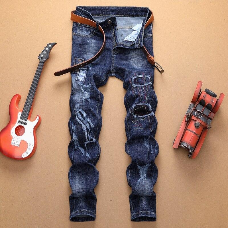 Джинсы мужские скинни в реальном времени, 2019 брендовые мягкие джинсовые брюки, Стрейчевые прямые облегающие качественные мужские джинсы в ...