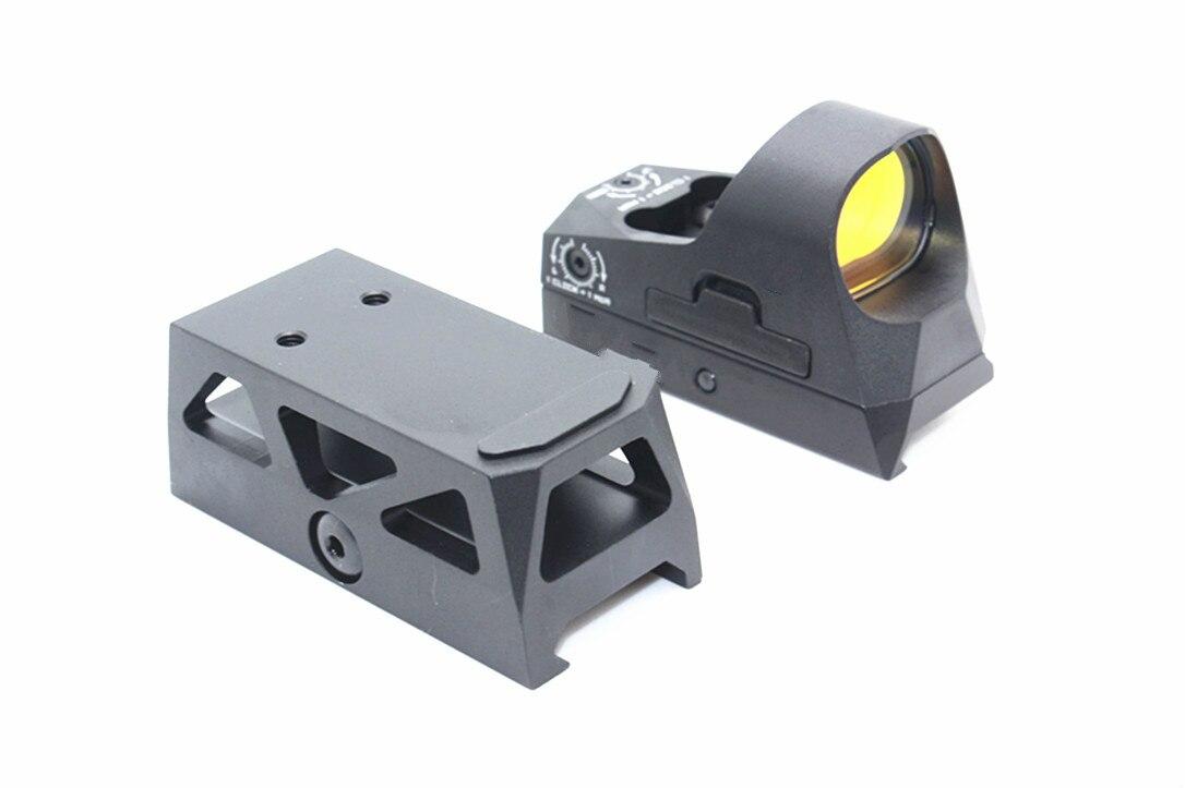 Magorui tático romeo3 mini 1x25 rifle reflex vista 3 moa ponto vermelho à prova de choque com montagem de riser qd