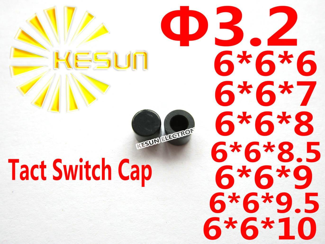 Envío Gratis 1000 Uds. Tapa negra para interruptor 6X6 Tact interruptor botón Micro interruptor
