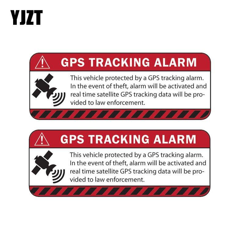 YJZT 13,1 CM * 4,9 CM 2X pegatina de coche reflectante advertencia GPS seguimiento alarma calcomanía motocicleta partes C1-7587