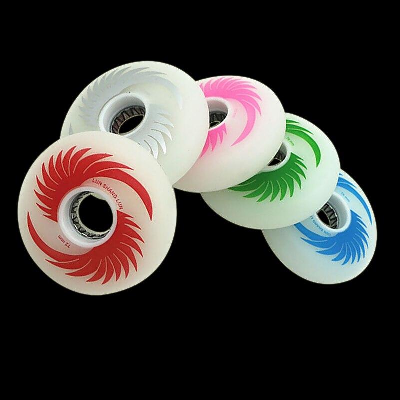 Patines de ruedas con Destello LED, rueda deslizante en línea para patines 88A 72/76/80mm, ruedas Slalom para patines SEBA I12
