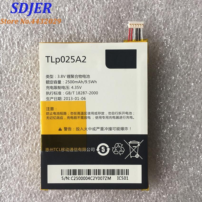 מקורי TLp025A2 2500mAh סוללה עבור ALCATEL ONE touch OT-8008D סופר HD OT8000 8000D 6043D TCL Y710 Y900 חכם טלפון