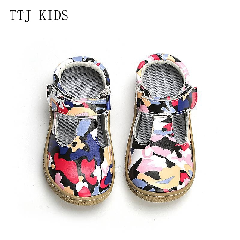 COPODENIEVE Top Brand Quality Genuine Leather Children toddler girl kids Shoes For Fashion Barefoot