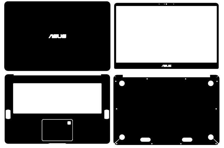 """Pegatinas de piel de vinilo de fibra de carbono para portátil especial, funda para ASUS Zenbook Pro UX550VD UX550VE 15,6"""""""