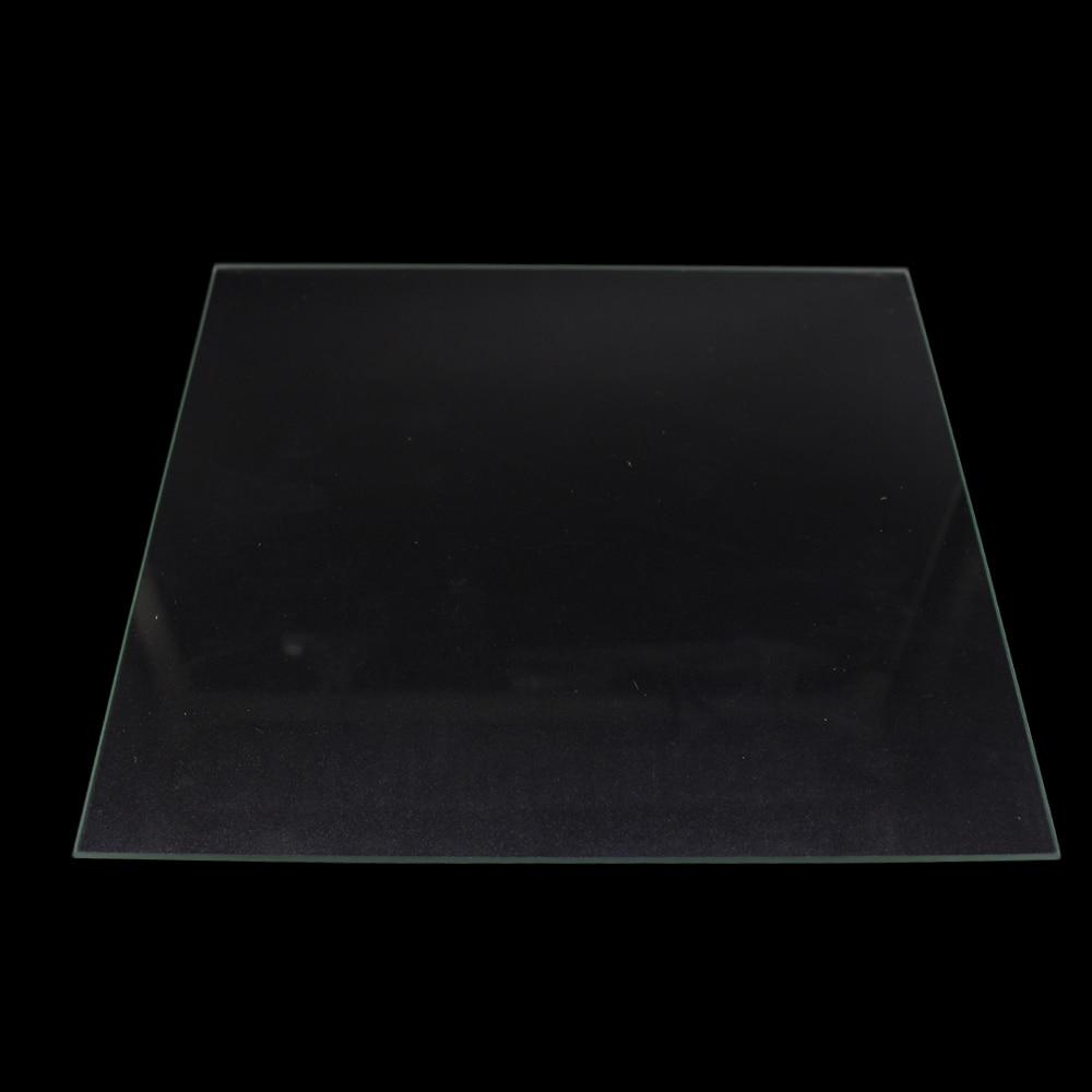 Funssor 3D piezas de impresoras 330*330*3mm placa de vidrio de borosilicato borde pulido cama caliente para DIY impresora 3D