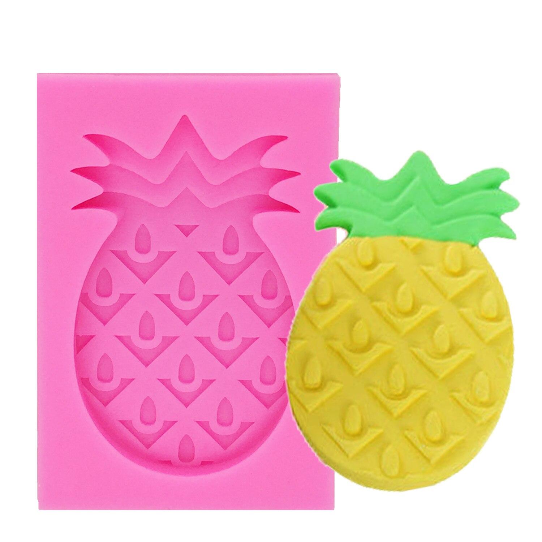 Moldes de pastel de silicona con forma de piña, moldes para frutas, Chocolate, galletas de caramelo, decoración de pastel de fiesta de verano, utensilios para hornear T1193