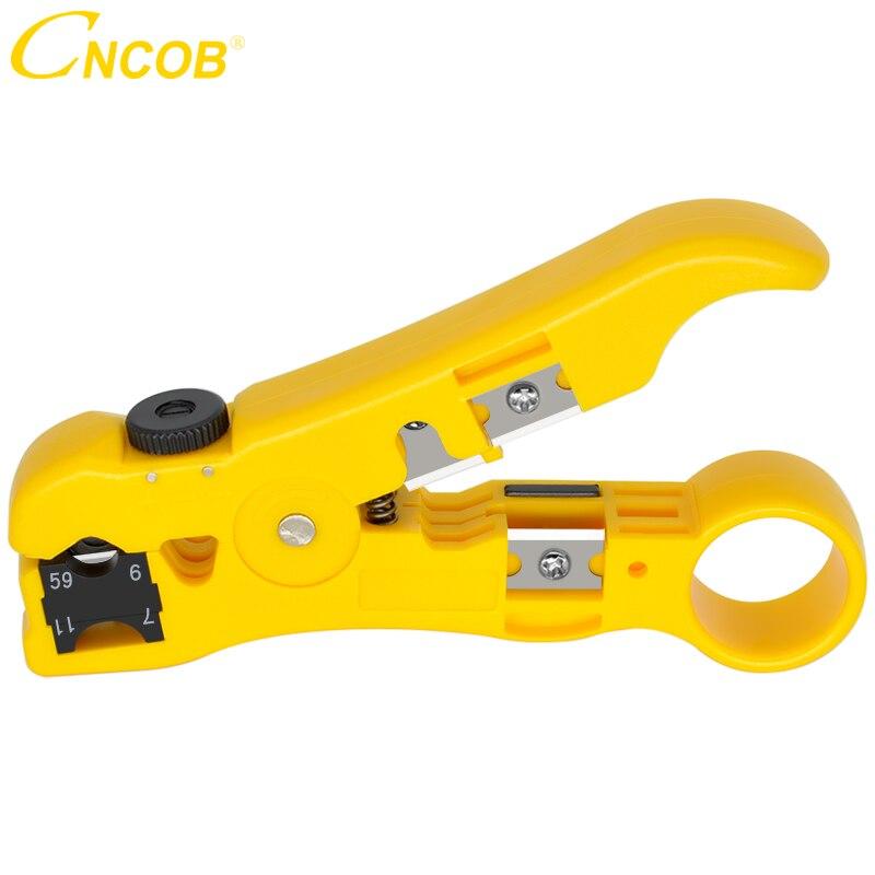Ferramentas de Descascamento Elétricas do Descascador Automático do Fio do Cabo de Cncob para Utp Rg11 Multi-funcional Cortador Str – Stp Rg59 Rg6 Rg7