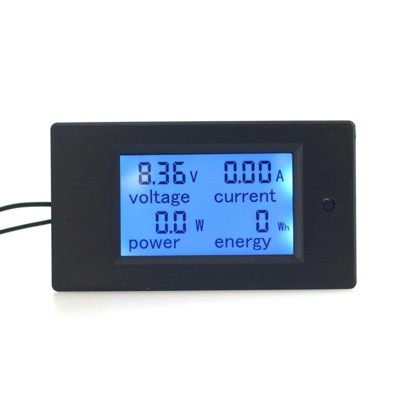 Voltímetro Digital amperímetro 4 en 1 DC100V 100A 50A opcional Amp Volt Watt, medidor de energía, módulo de Panel de retroiluminación LCD azul
