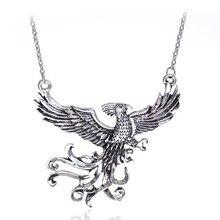 Nouveau Harry fascinant créatures phénixes brûlant jour pendentif collier Vintage oiseau mouche film collier