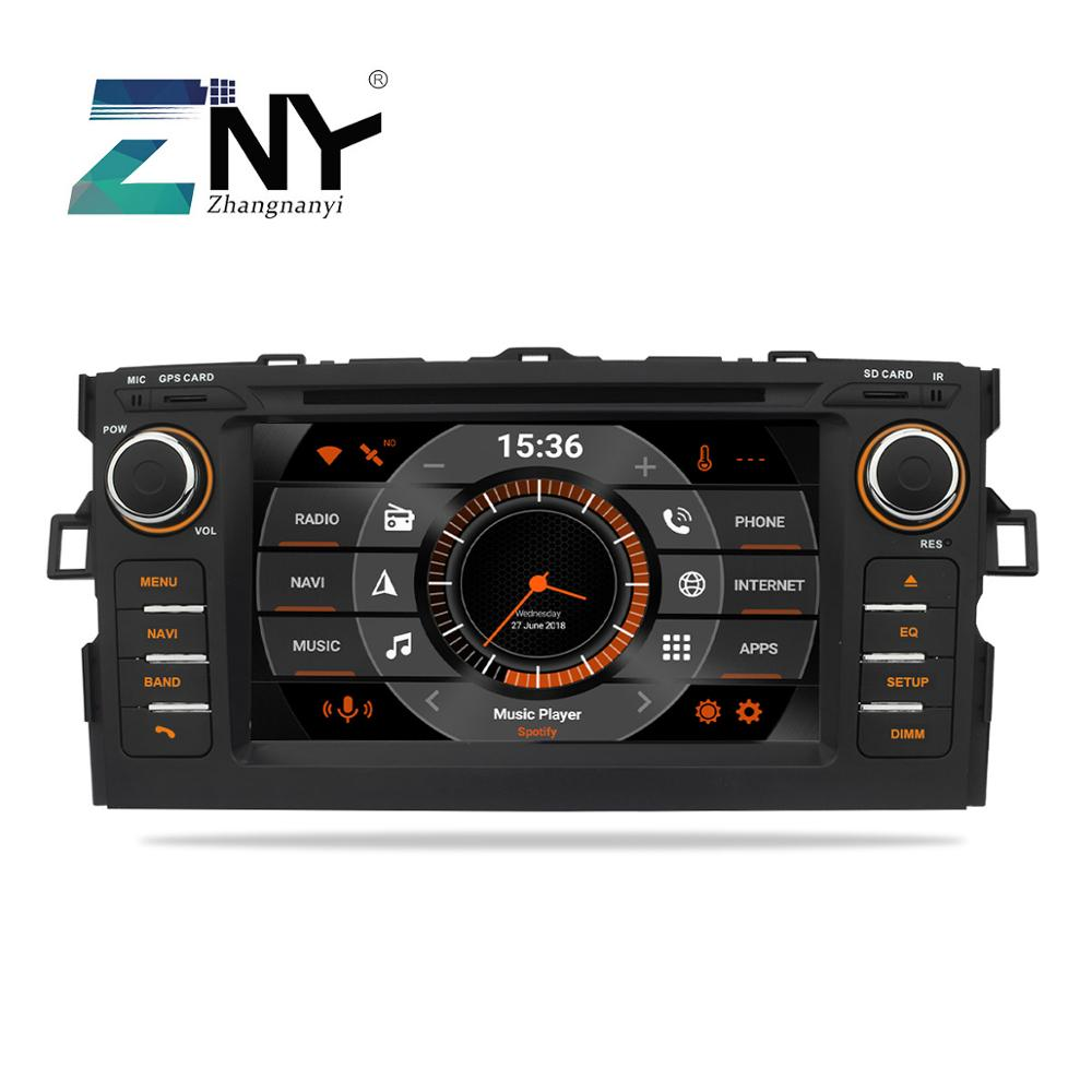 """7 """"Android 9,0 coche DVD para Toyota Auris Auto Radio FM RDS GPS navegación Bluetooth WiFi Audio Video Multimedia cámara de marcha atrás"""