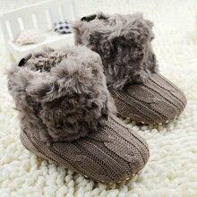 Bebek bebekler tığ örgü polar çizmeler Toddler kız erkek yün kar beşik ayakkabı kış sıcak patik ilk yürüyüşe yeni