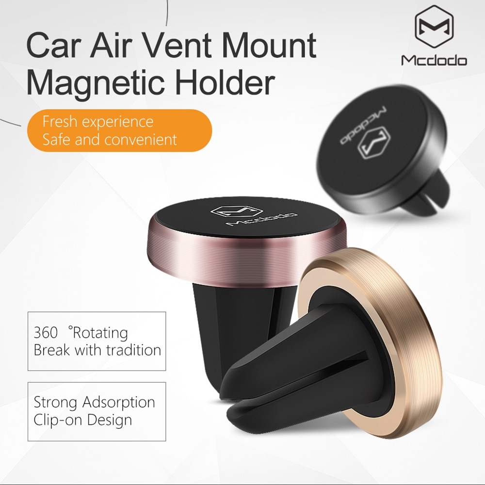 Soporte de coche Universal Mcdodo soporte magnético de ventilación de aire soporte para teléfono Dock para iPhone Samsung Google Pixel soporte para teléfono móvil