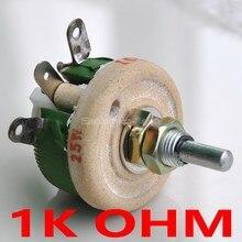 Potentiomètre bobiné haute puissance 25 W 1 K OHM, rhéostat, résistance Variable, 25 Watts.