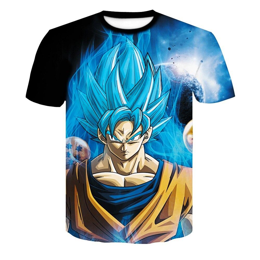 2019 camiseta de Bola de Dragón 3D para hombre anime harajuku comics Goku Z impreso cuello redondo moda blazer de verano