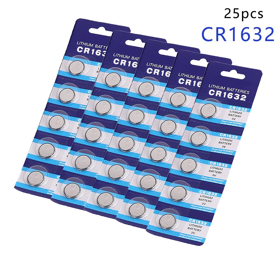 Centechia 25 piezas promoción batería de botón CR1632 LM1632 BR1632 ECR1632 3V reloj botón moneda células, batería de litio EE6224