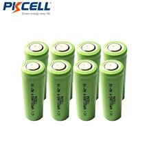 8 pcs/lot PKCELL 1.2 V 1300 mAh 4/5AA Ni-MH batterie 1.2 volts NiMh batterie Rechargeable pour la construction de batteries à dessus plat