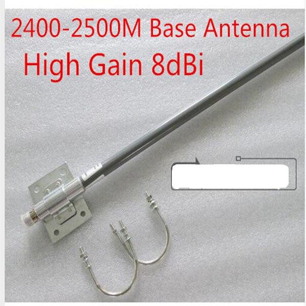 2,4g всенаправленная антенна из стекловолокна 8dBi Wi Fi антенны базовой антенны с высоким коэффициентом усиления сигнала антенны N женский 2400-2500...