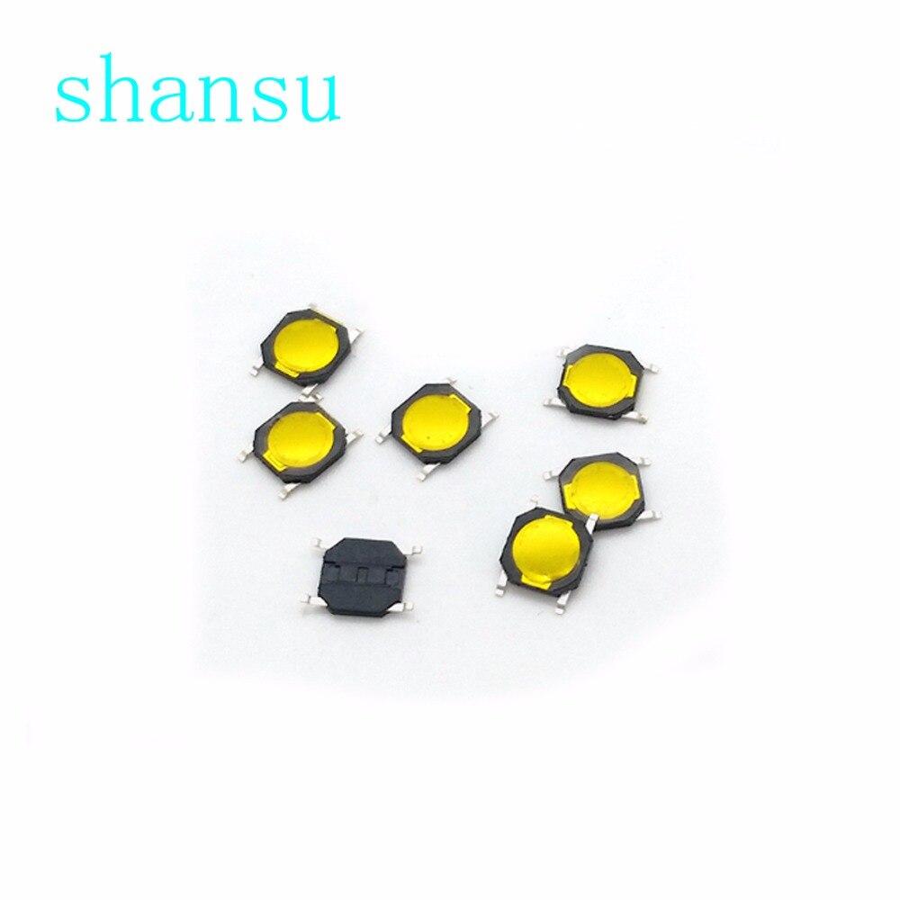 Free shipping 50pcs SMD Tact Switch thin film switch Push Button 4*4*0.8 MM 4X4X0.8MM