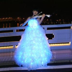 Luminous skirt led luminous princess skirt stage LED luminous performances wedding dress evening gown evening dress