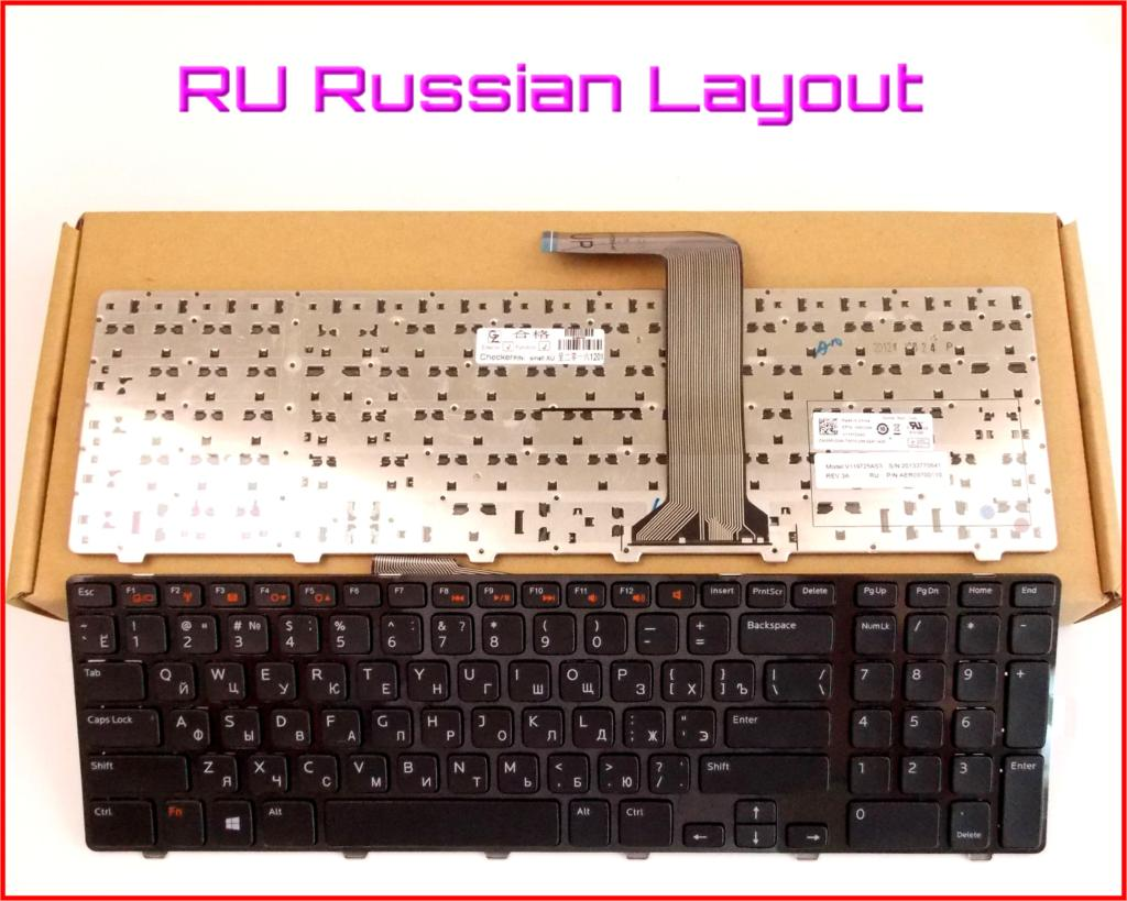 Novo Teclado RU Russo Versão para Dell XPS 17 (L702X) 17R L702X 0454RX Laptop Com Quadro