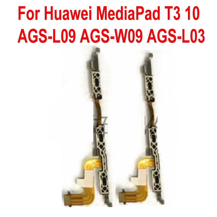 De alta calidad, probado bien fuerza volumen flexible de interruptor de Cable en/botón cinta para Huawei MediaPad T3 10 AGS-L09 AGS-W09 AGS-L03