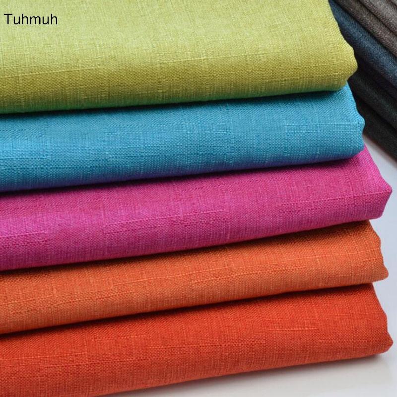 1 метр 148 см ширина плотная однотонная окрашенная Льняная Ткань Домашний текстиль Материал DIY ткань занавески, диван, стол, ткань для подушки