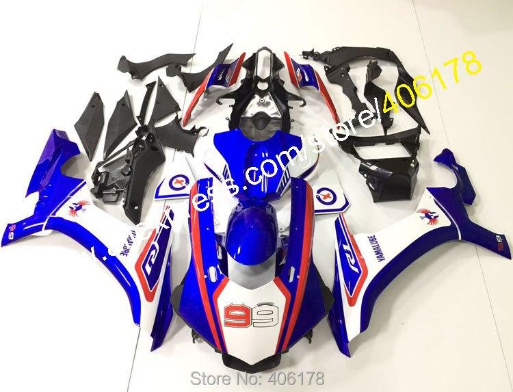 Número 99 para YZF R1 2015, 2016, 2017, 2018, 2019 YZF1000 15 16 18 19 YZFR1 YZF-R1 nuevo Kit de carenado de motocicleta (moldeo por inyección)