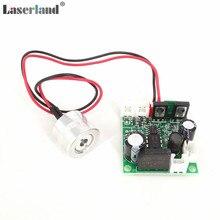 10 pièces Laserland 18*15mm 650nm 100 mW Rouge Diode Laser Module TTL 12VDC Focalisable
